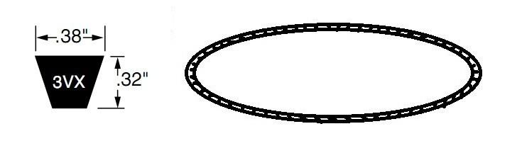dây curoa 3VX - BANDO tiêu chuẩn, dây curoa 3VX