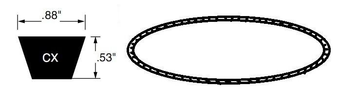 dây curoa CX BANDO tiêu chuẩn, dây curoa CX