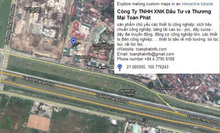 Văn phòng Toàn Phát nhông xích .com cung cấp xích nhông dây curoa thiết bị phụ tùng công nghiệp